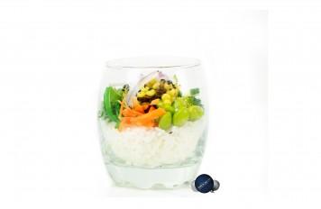 Poké bowl cocktail