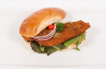 Broodje visburger (witvis / kabeljauw)
