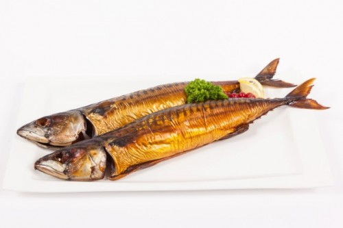 Makreel, gestoomd, warm gerookt