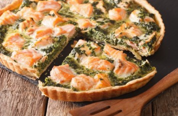 Quiche zalm-spinazie