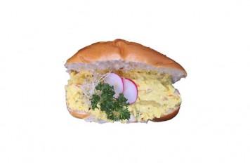 Broodje krab-currysalade